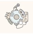 Music line icon vector image