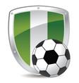 nigeria shield soccer vector image vector image