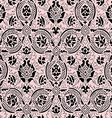 Pink and black lace Seamless abstract floral vector image