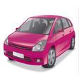 pink hatchback car vector image vector image