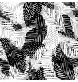 plant palm leaf tropic seamless pattern abstract vector image vector image