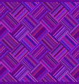 purple geometric diagonal striped square pattern vector image vector image