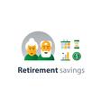 Retiremet pension finance insurance idea savings vector image vector image