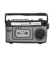 Retro classic tape radio player vector image