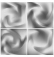 set of silver silk textures grayscale abstract vector image vector image