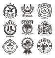 set rodeo logos vector image
