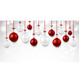 shining background with colorful christmas balls vector image vector image