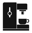 side coffee machine icon simple style vector image vector image