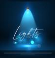 spotlight blue light effect presentation design vector image