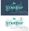 startup banner background design concept vector image vector image