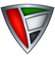 steel shield with flag united arab emirates vector image