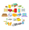 storage of goods icons set cartoon style vector image vector image