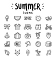 Summer icons outlined vector image vector image