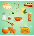 Tea decorative set vector image vector image