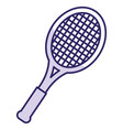 tennis racket isolated icon vector image vector image