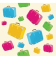 Travel suitcases background vector image