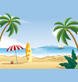 tropical beach with white sand vector image vector image