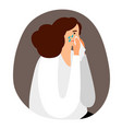 upset woman is crying vector image vector image