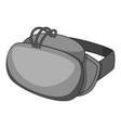virtual reality headset icon monochrome vector image vector image