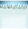 Winter background with presents vector image