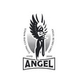 woman angel with a sword in her hands vector image vector image