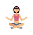 Woman in Pose Practicing Yoga vector image vector image