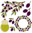 Olives Set vector image