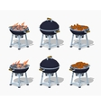 Low poly barbecue vector image