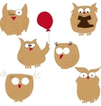 Owl Set of funny owls vector image