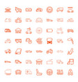 49 auto icons vector image vector image