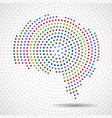 abstract colorful brain of radial dots vector image vector image