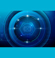 abstract hud technology background 002 vector image vector image