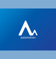 abstract letter a or m logo template for vector image