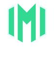 alphabet m logo vector image vector image