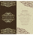 Baroque invitation brown and beige vector image vector image