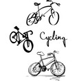 bicycle logo set vector image vector image
