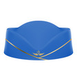 blue stewardess uniform cap isolated on a white vector image