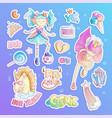 brave tomboy princess cartoon set princess vector image