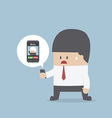 Business recieve incoming call from boss vector image vector image