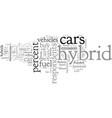 buy hybrid cars vector image vector image