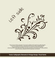 card invitation elements vector image vector image