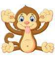 Cartoon monkey making a teasing face vector image vector image