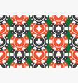 casino chips seamless pattern top view vector image vector image