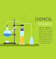 chemical research concept banner flat style vector image vector image