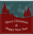 Christmas and New Year landscape with trees vector image vector image