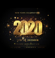 christmas and new year posters set with 2020 vector image vector image
