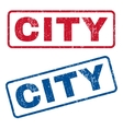 City Rubber Stamps vector image vector image