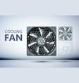 cooling ventilation system design concept vector image