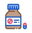 dead pill bottle icon outline vector image