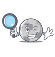detective football character cartoon style vector image vector image